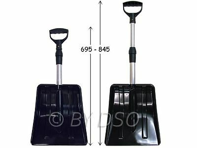 Lightweight 84 cm Telescopic Snow Shovel with Aluminium Shaft