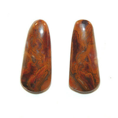 Pietersite Cabochon pair 21.5x9mm with 4mm dome (11659)