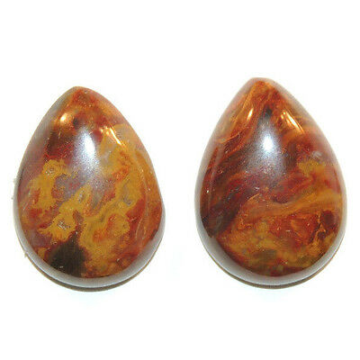 Pietersite Cabochon pair 20x15mm with 5.5mm dome (11661)
