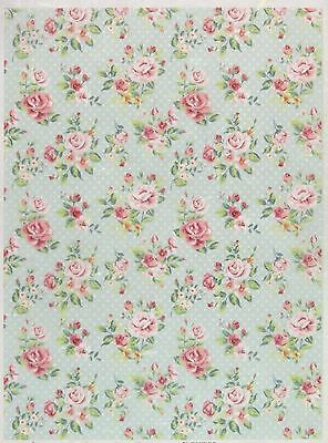 Rice Paper for Decoupage Decopatch Scrapbook Craft Sheet Vintage Shabby Roses