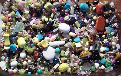 Wholesale Lot of New Assorted Jewelry Supplies-Beads, Findings,Gems, etc 1/2 lb.