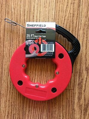 New - Sheffield 25 Ft. Steel Fish Tape 9251 - Free Shipping
