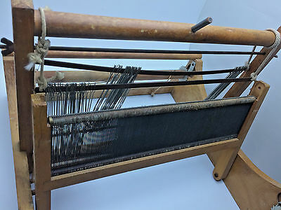 Vintage Table Top Weaving Loom Lily Mills CO Shelby N.C. 40s 50s RNC0114