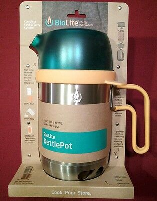 BioLite KettlePot  1.58 quart Cook and Carry System Stainless Steel Soup Pot Bag
