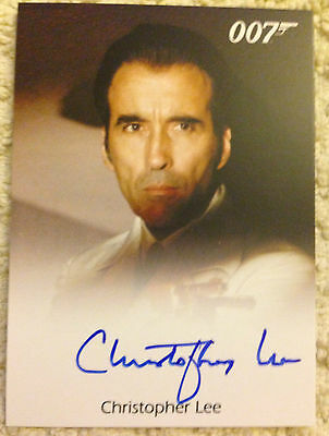 James Bond Archives 2015 Autograph Card Christopher Lee as Scaramanga