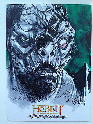 The Hobbit Desolation of Smaug Sketch Card by Brian S Canio