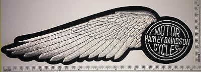 1 SILVER HALF WING HARLEY DAVIDSON  MOTO MOTORCYCLE Patch HOG