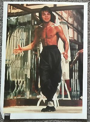 GAZ COOMBES AS BRUCE LEE - 1997 full page magazine poster SUPERGRASS
