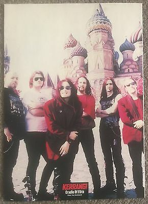 CRADLE OF FILTH - 1998 full page magazine poster