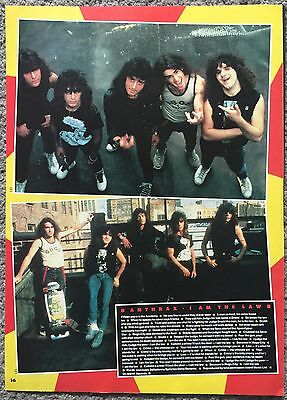 ANTHRAX - I AM THE LAW 1987 full page UK magazine lyric poster
