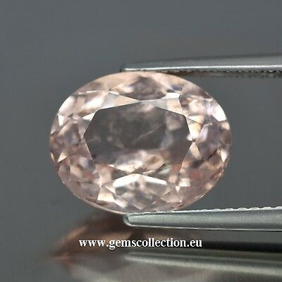 Aaa  Natural Morganite Ct 5.23 Peach Pink Oval Cut Stunning Brazil Very Good