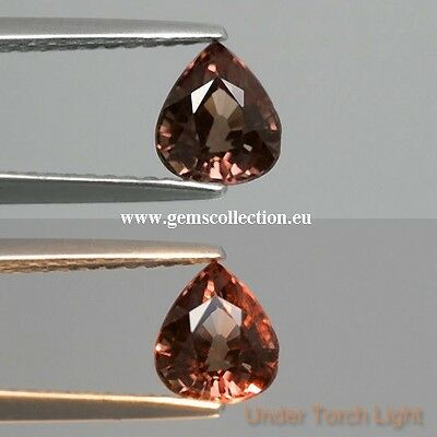 Aaa Natural Change Color Garnet Ct 1.16 Si Pear Cut Origin Africa Very Good