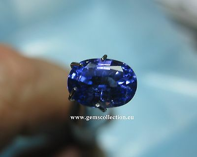 Aaa Natural Tanzanite  Ct 1.35 Vs Oval Cut Origin Tanzania Very Good