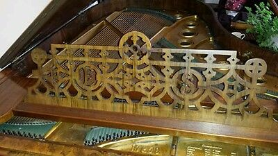Antique Ed Seiler Boudoir Grand Piano, walnut/mahogany,  year of build 1892.