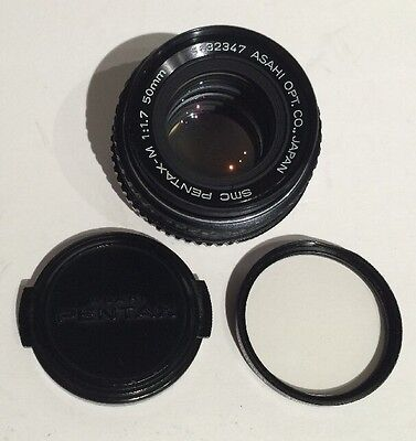Asahi SMC Pentax-M 50mm F/1.7 Manual Focus Prime Lens K P/K Mount