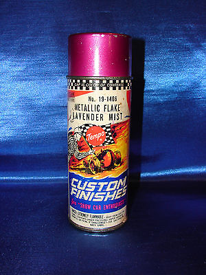 Vintage Tempo Custom Finishes Spray Paint Can 19-1406- Metal Flake Lavender Mist