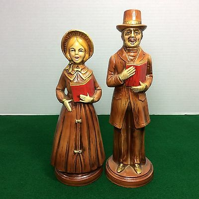 Vintage Norcrest Singing Christmas Carolers Hand Painted Figurines Holiday