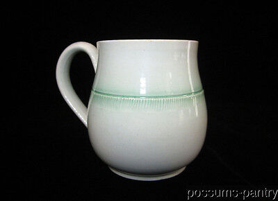 18th C. ENGLISH PEARLWARE GREEN FEATHER EDGE MUSTARD POT CUP PEARL WARE