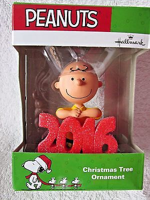 Hallmark Christmas Tree Ornament Dated Peanuts Charlie Brown Holding 2016 New