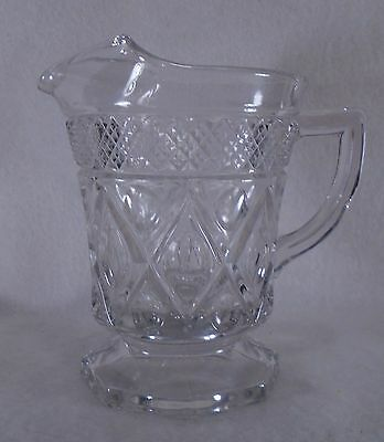 Imperial Glass-Ohio - Cape Cod-Clear - Pint Pitcher