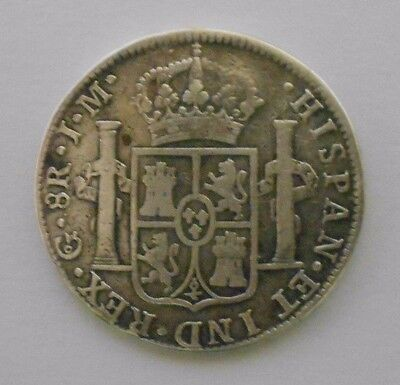 MEXICO SPAIN Guanajuato 8 Reales bust Ferdinand VII 1822, 27 gr, KM 111.4