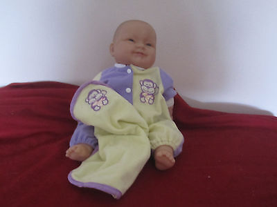 Berenguer soft body baby doll 35 cm, 2 outfits + blankie