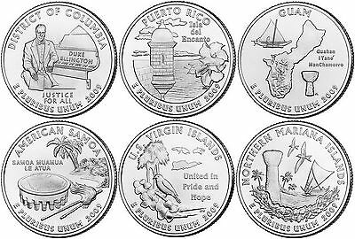2009 US State Quarters Six Coins Uncirculated Straight from the US Mint