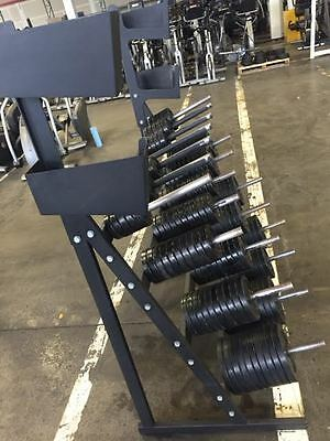 Troy and Ivanko Aerobic/Group X Weight Plates Strength Training Cardio w Rack Se