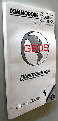 Geos Quantum Link Commodore 64C Personal Computer User's Guide 1987 8Th Printing
