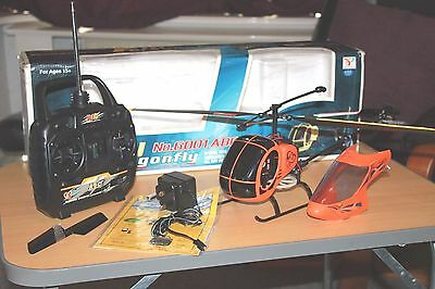 UNUSED RETRO FLY DRAGONFLY 6001ABC  Remote Control RC HELICOPTER  Rare & Boxed