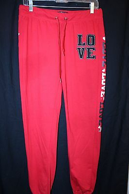 Wild Punch Maternity Women's Red Sweat Pants---Large