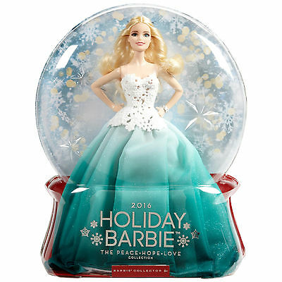 Barbie 2016 Holiday Doll New!