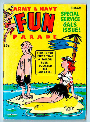 ARMY & NAVY FUN PARADE # 62 in NM- 1953 FILE COPY - RUTH ROMAN pin-up