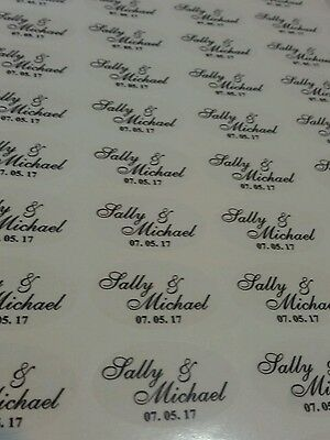 140 x Custom Printed Labels or stickers Address Labels Waterproof clear or white