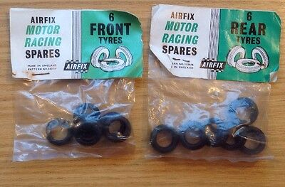 Airfix / MMRC / Scalextric Wheels and tyres all vintage unused in packs!