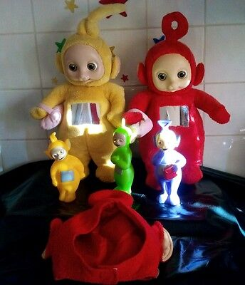 Teletubbies soft toys po laa-laa and plastic toys, hat retro vintage collectable