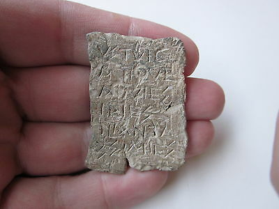 Absolutely rare ancient Byzantine lead plate - a letter with inscriptions!