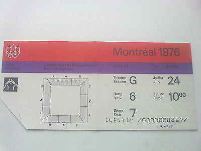 Ticket Olympic Games MONTREAL 24.07.1976 - WRESTLING (10:00)