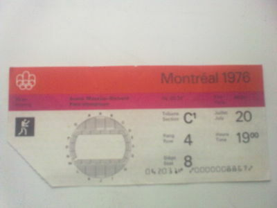 Ticket Olympic Games MONTREAL 20.07.1976 - BOXING (19:00)