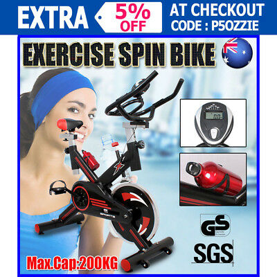 2017 Spin Bike Flywheel Exercise Gym Home Fitness LCD Display Water Bottle 200kg