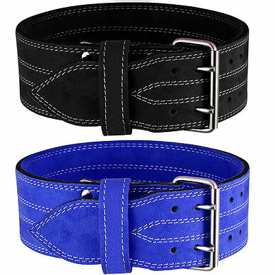 Weight Lifting Nubuck Leather Power Belt Back Support Strap Gym Training Dip