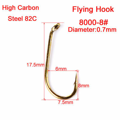 New 100pcs Lot Fly Hook Fishing Hooks 8/12/14/16 Size fishhook Freshwater Bass