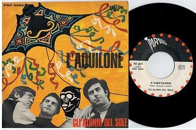 ALUNNI DEL SOLE L'aquilone 45rpm 7' + PS 1968 ITALY MINT- Rare It Prog