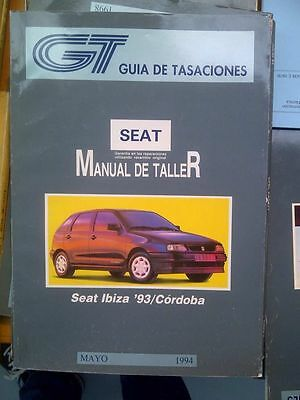 Seat Ibiza Cordoba Gti Gt Gl Diesel Manual De Reparacion Español Workshop Repair