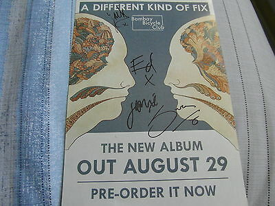Signed Bombay Bicycle Club A Different Kind Of Fix Album Double Sided Art Print