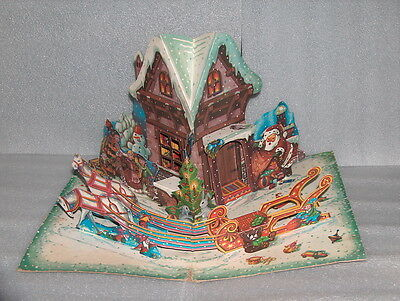 Rare Vintage Christmas? One Scene Pop-Up Book, No Title, Bulgaria