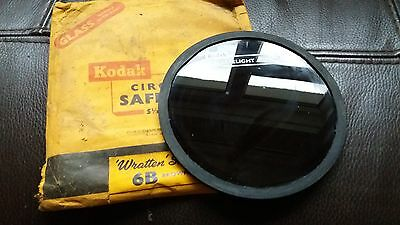 Vintage Safelight Photography Developing Film Kodak Filter 6B Wratten Series 5.5