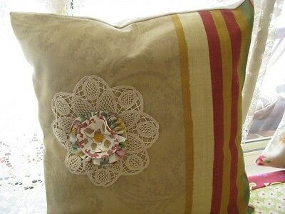 HANDMADE CUSHION COVER SHABBY CHIC - French Stripe
