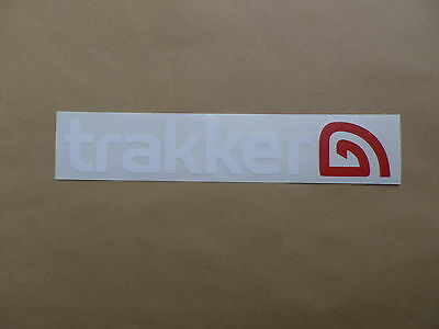 TRAKKER FISHING TACKLE Vinyl Stickers Decals White
