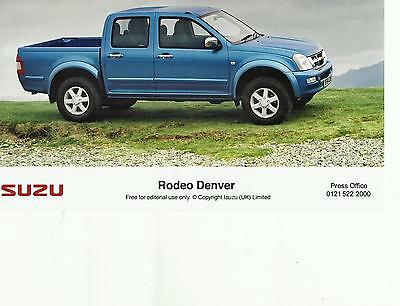 ISUZU RODEO DENVER (blue) 2005 UK press / publicity photo